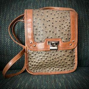 NWOT Faux Ostrich Shoulder Bag